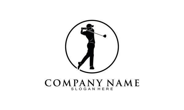 People golfing logo