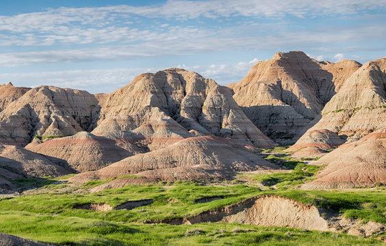 Geological Formations at Badlands National Park, South Dakota