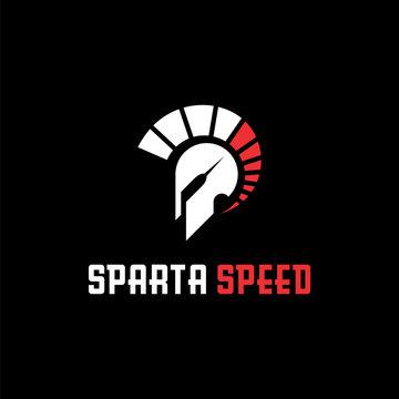 modern sparta speed logo design
