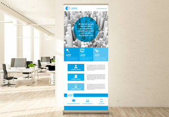 Blue Business Roll Up Layout