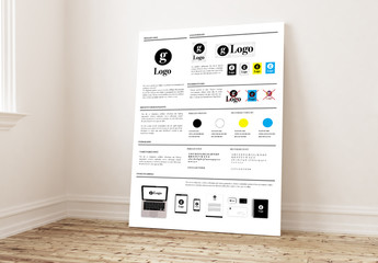 Brand Guideline Poster Layout