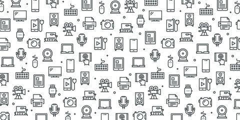 ELECTRONIC DEVICES SEAMLESS PATTERN