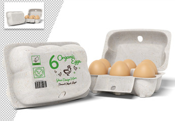 Egg Carton Packaging Design Mockup