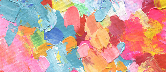 Obraz Abstract acrylic and watercolor painting. Canvas background. - fototapety do salonu