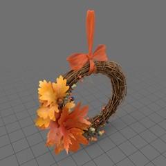 Autumn wreath with bow