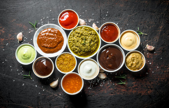 Variations of delicious sauces.