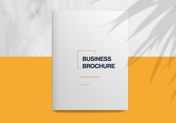 Business Brochure with Orange Accents