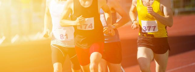 Lamas personalizadas de deportes con tu foto Athletics people running on the track field. Sunny day