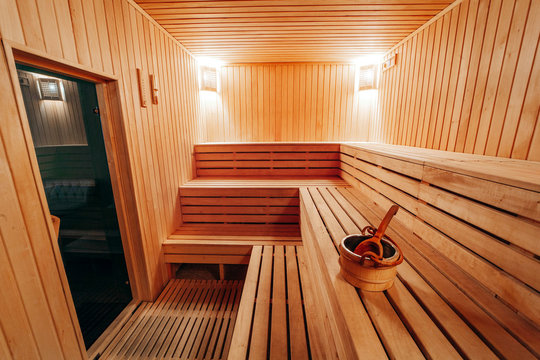 Interior View of Sauna Bath