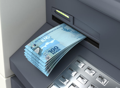 Withdrawal Brazilian Real From The ATM