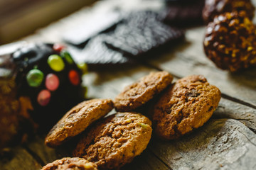 Chip cookies and chocolates pralines to take pleasure in Christmas holidays