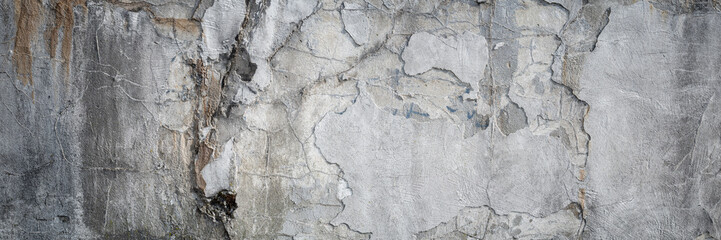 Fototapeta Texture of old gray concrete wall as a grungy background