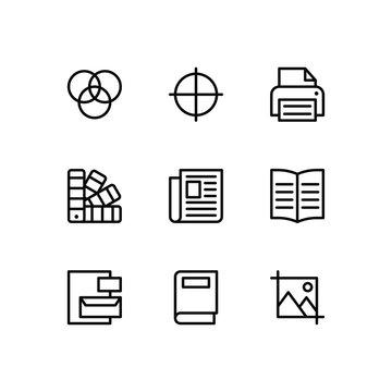 Editorial Design Line Icons