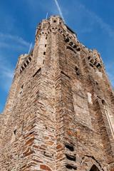 Turm der Pfarrkirche St. Martin in Oberwesel am Rhein