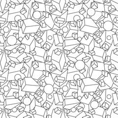 3D geometric background. Seamless pattern.Vector. 立体幾何学パターン