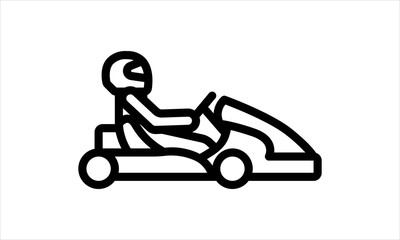 Kart with driver icon vector image