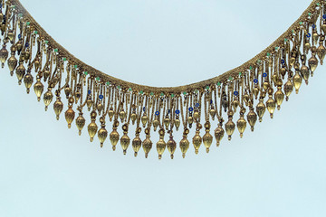 Etruscan style gold necklage detail