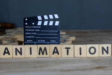 Animation Movie Concept, Clapperboard