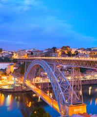 Fototapete - Dom Luis Bridge, Porto skyline