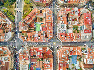 Foto auf Acrylglas Barcelona Barcelona aerial photo