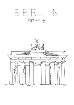 Poster Brandenburg Gate