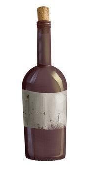 wine bottle, letter in the bottle