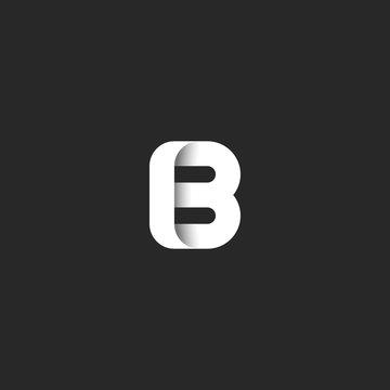 Creative mark letter B logo bold monogram, stylish sleek shape icon typography minimalist design element