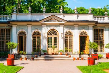 St Petersburg, Russia. Street cafe pavilion in Summer garden -the most famous garden in St Petersburg