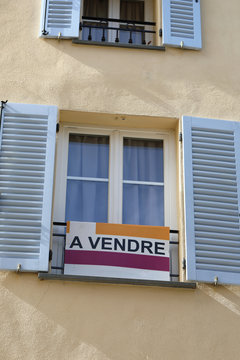 Apartment For Sale Sign In France On The French Riviera
