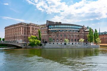 Fotobehang Parliament house (Riksdag) building in Stockholm, Sweden
