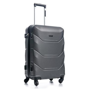 Black travel suitcase on white background isolatio