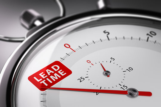 Lead Time Written on a Stopwatch. Supply Chain Management Concept.