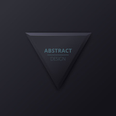 Abstract background of black triangle. Minimal origami paper. Black background for your design. Vector illustration.