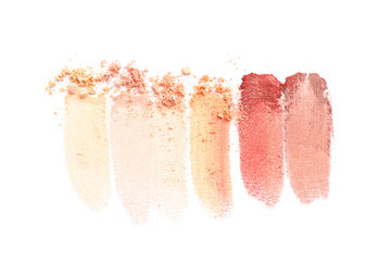 Eyeshadows isolated on white background. Makeup products