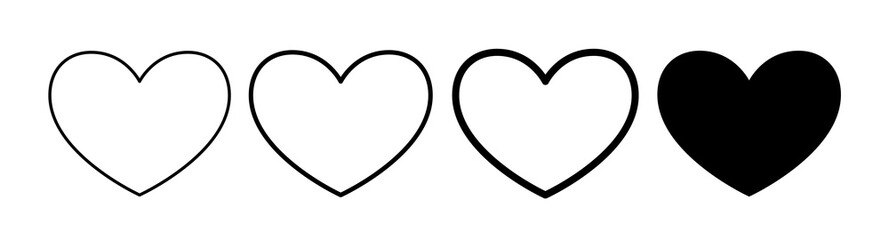 Heart sign concept element for internet shop design, apps, web design. Icon, sign, symbol heart meaning I like, love, favorites.