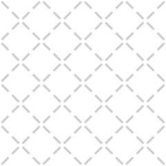 Tile grey and white quilted vector pattern for seamless decoration background wallpaper