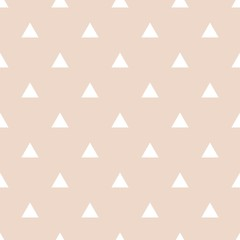 Tile vector pattern with white triangles on pastel background