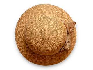 Round women's straw hat