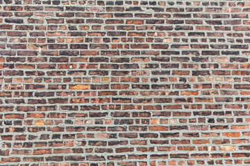 Brown red color brick wall texture, background