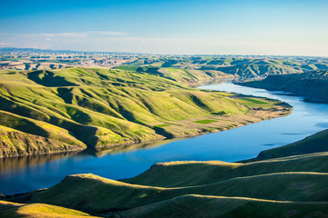 Aerial view of the Snake River in eastern Washington.