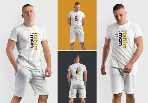 4 T-Shirt Model Mockups