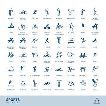 Sports disciplines icons