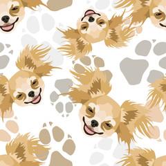 Muster Hundepfoten Chihuahua