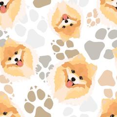Muster Hundepfoten Chow-Chow