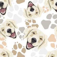 Muster Hundepfoten Golden Retriever