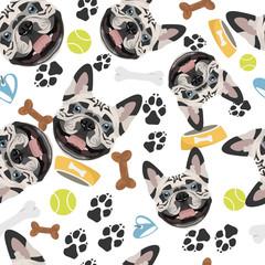 Lächelnder Hund Französische Bulldogge