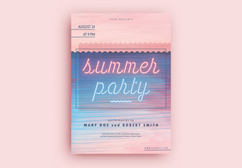 Summer Party Flyer Layout
