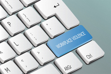 workplace violence written on the keyboard button