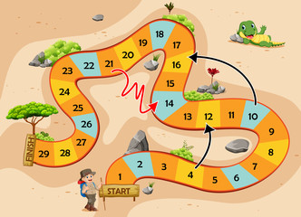 the snake and ladders game with the adventure theme