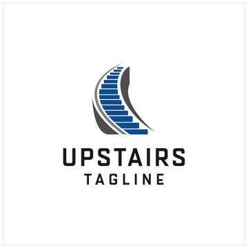 stairs logo icon illustration vector graphic template download